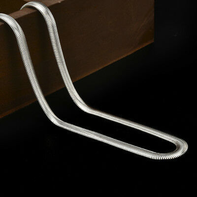 925 Sterling Solid Silver 6MM Snake chain Men Women necklace 16-24 inch Charm