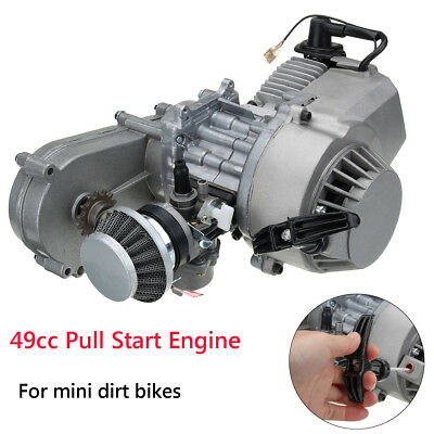 49cc Engine Carburetor Electric Pull Start Mini Motor Dirt Quad Bike ATV Buggy