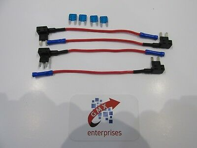 4 x piggy back fuse add a circuit mini blade fuse holder