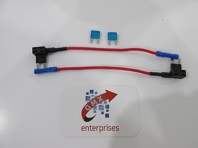 2 x piggy back fuse add a circuit mini blade fuse holder