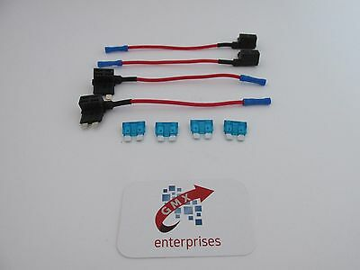 4 x piggy back fuse add a circuit standard blade fuse holder