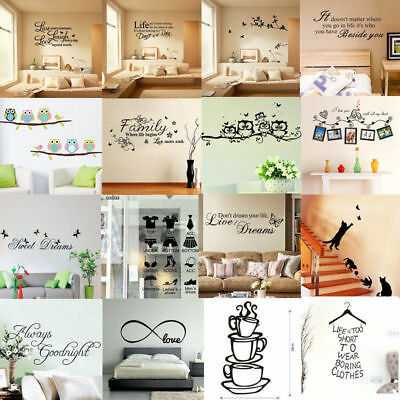 New Vinyl Home Room Decor Art Quote Wall Decal Stickers Bedroom Removable DIY