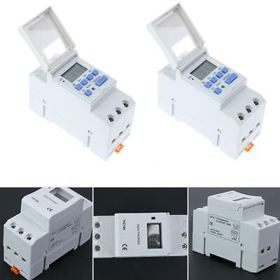 1PC AC 220-240V Digital LCD DIN Programmable Weekly Rail Timer Time Relay Switch