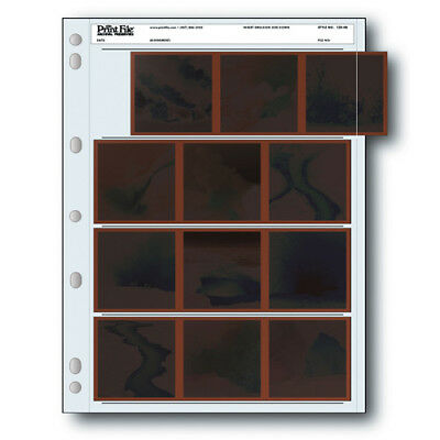 50 x PRINT FILE 120 Film Negative Pages Sleeves Archival Preservers 120-4B