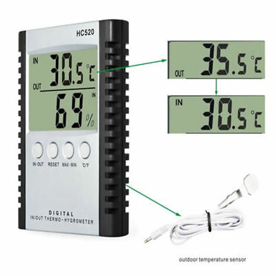 Digital LCD Industrial Electronic Environment Temperature And Humidity Meter