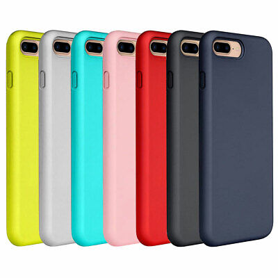 For iPhone 7 Plus 8 Plus Thin Silicone Leather Shockproof Skin Phone Case Cover