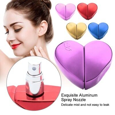 Travel Portable Heart Shaped Refillable Perfume Atomizer Empty Bottle Pump Spray