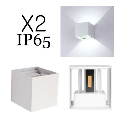 2X LED Wall Light Square Up/Down Cool Warm Lamp 12W Bars Cafe ktv Decor 110-240V