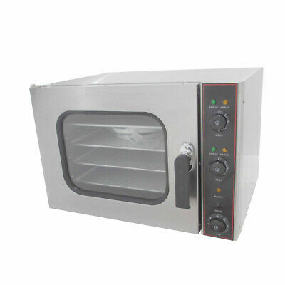2020 Door Design Commercial  Electric Convection Oven  4 Baking Tray Mist Spray