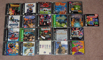 Lot of 21 Sony Playstation 1 games (psx, ps1)
