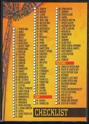 1995 Fleer Ultra Spider-Man Premiere Trading Card #150 Checklist