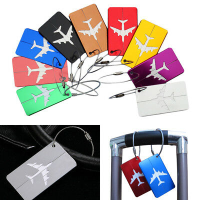 Personalized Aluminum Luggage Tags Bag Suitcase Labels Name Address ID Label