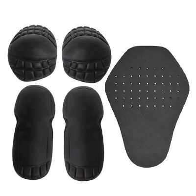 X5 Set Motorcycle Riding Shoulder Elbow Back Protection Pad Racing Armour Black