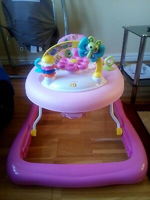 Bright Starts Baby Walker used condition folds down in Pink