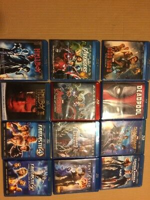 12 Merval DC Comic Super Hero Movies In Blu Ray. No Digital Code Iron Man 3, Ave
