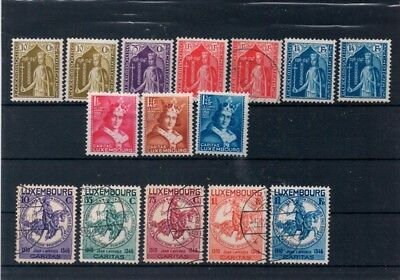 Luxembourg 1932-1934 MH+Used   incomplete series