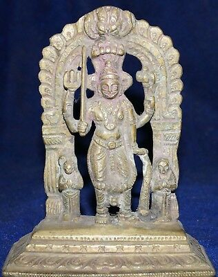 Antique Brass Or Bronze God Virbhadra Big And Beautiful Statue Size 5 Inch