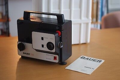 BAUER T5 Film Projector, 8mm, Made in Italy, Modernist, Rare, In Original Box.