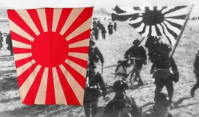 4.7 FEET HUGE pre-www2? Japanese Imperial Navy Flag Rising Sun Japan Asahi Rare