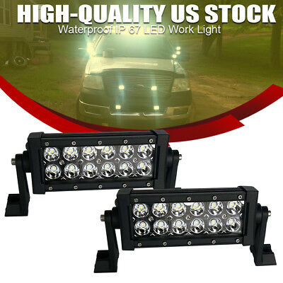 7inch LED Work Light Bar Spot Offroad 4WD SUV Driving Fog Lamp For Duck Boat SxS