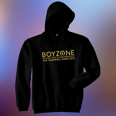 Men's Boyzone Thank you & Goodnight The Farewell Tour Glitter Gold Vinyl Hoodie