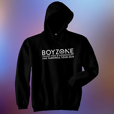 Men's Boyzone Thank you & Goodnight The Farewell Tour 2019 White Vinyl Hoodie
