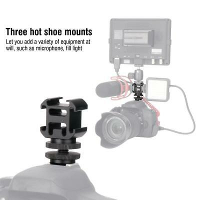 Ulanzi Mini Camera Triple Hot Shoe Mount Adapter for Video Fill Light Monitor LJ