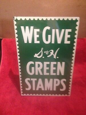 1956 Orig. S&h Green Stamp Double Sided Service Station Sign Mobil Standard Oil