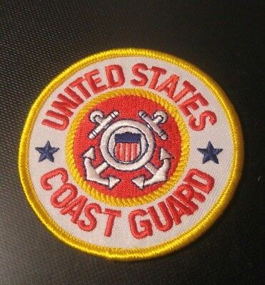 """United States Coast Guard Embroidered Patch 3"""" Diameter Iron Ready/Sew USCG"""