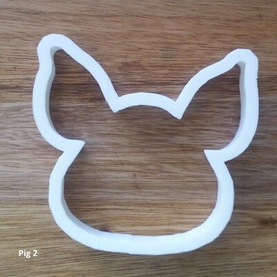 Pig Head Boar Farm Cookie Cutter Biscuit Dough Pastry Fondant Stencil Face