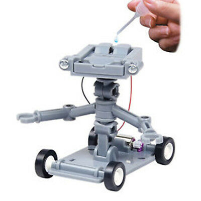DIY Assembly Salt Water Powered Robot Kits Child Kids Science Educational Toy