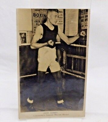 Original Old Boxing Photograph Postcard Jack Coney Welter-weight 1920's