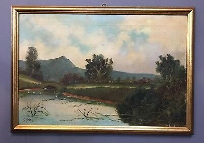 Large Antique Victorian Oil On Canvas Painting, Signed Hayes
