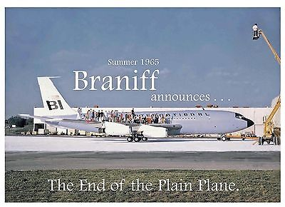"Braniff Airways Boeing 720 ((16""x20"")) Print"