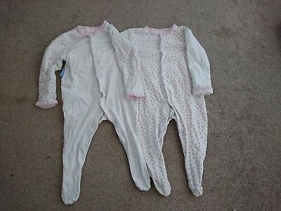9-12 Months Girls GroSuits/ Padded Sleeves x 2