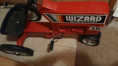 Vintage Peddle Tractor ertl wizard 36 western auto store model f-68 USA