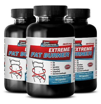 Dietary Supplements - Extreme Fat Burner 2645mg 3B - GLA Supplement For Women