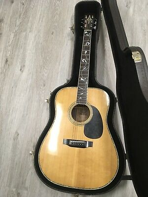 alvarez acoustic guitar Tree Of Life Model Made In Japan 1970s excellent W/Case