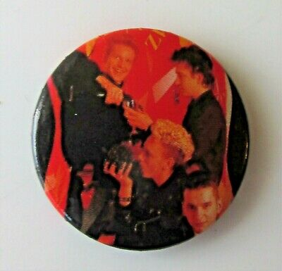 DEPECHE MODE VINTAGE METAL BUTTON BADGE FROM THE 1980's POP SYNTH