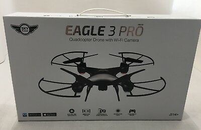 Sky Rider Eagle 3 Pro Quadcopter Drone Wi-Fi Camera Black Toy LiveStream OpenBox