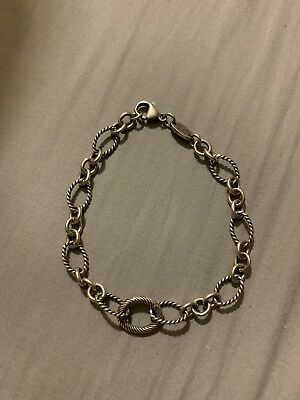 186c8f699 ... james avery sterling silver twisted oval changeable charm bracelet size  xl ...