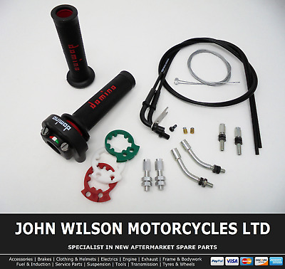 Domino XM2 Quick Action Throttle Kit Red