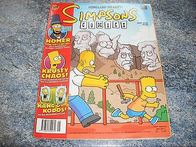 The Simpsons May 2005 Comic 105 With Attached Pull Out Homeland Hilarity