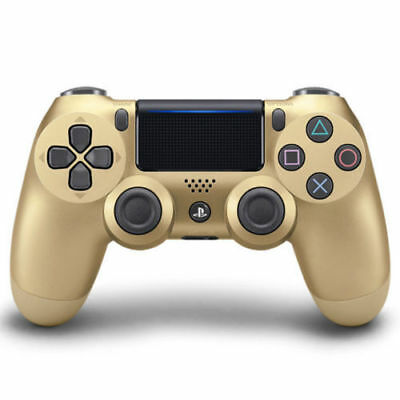 New GOLD DualShock PS4 Bluetooth Wireless Controllers V2 in Sealed Box UK FAST