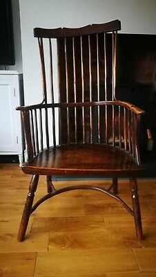 Primitive Comb Back Antique Windsor Chair