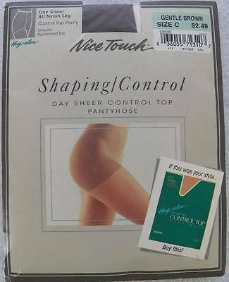 52ed22045 HANES SHAPING SHEER Tights Pantyhose - Control Top Gentle Brown Size ...