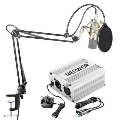 Neewer Condenser Microphone Kit, Mic Arm Stand And Pop Filter, Studio Recording