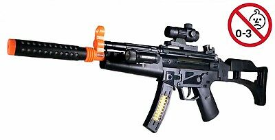 "Machine Guns Military Soldier M-16 Toy Rifle With Sound And Light - 28.5"" Long"