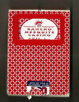 Red Deck Of Rancho Mesquite Professional Playing Cards
