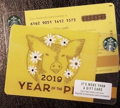 NEW Starbucks 2019 USA YEAR OF THE PIG Gift Card series 6162 Lot Of 10
